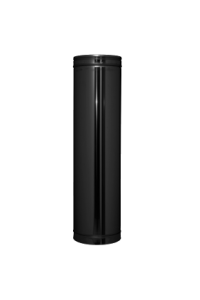 "Twin wall flue 5"" 1000mm black finish"