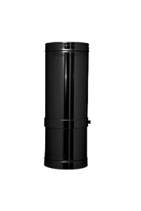 "Twin wall flue 6"" 500mm black finish"