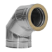 Twin Wall flue 90 deg Elbow 5 inch Dia stainless Finish