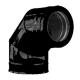 Twin Wall flue 90 deg Elbow 5 inch Dia black Finish
