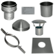 "Chimney Liner 6"" install kit with top plate and clamp"